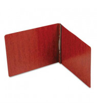 """Smead 2"""" Capacity 8-1/2"""" x 11"""" Prong Fastener 4-1/4"""" Center End Opening PressGuard Report Cover, Red"""