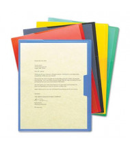 Smead Clear-Front Project Letter File Jackets, Assorted, 5-Pack