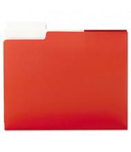 "Smead 100-Sheet 8-1/2"" x 11"" SuperTab Two-Pocket Portfolios, Red, 5/Pack"
