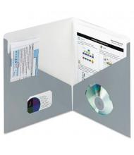 """Smead 100-Sheet 8-1/2"""" x 11"""" Contemporary Classics Two-Pocket Portfolios, Blue Gray, 25/Box"""