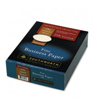 "Southworth 8-1/2"" x 11"", 24lb, 500-Sheets, Natural Wove 25% Cotton Business Paper"