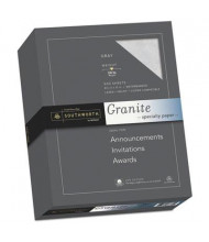 "Southworth 8-1/2"" x 11"", 24lb, 500-Sheets, Gray Granite Specialty Paper"