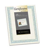 "Southworth 8-1/2"" x 11"", 24lb, 25-Sheets, Ivory Parchment Certificates"
