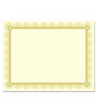 "Southworth 8-1/2"" x 11"", 66lb, 15-Sheets, Spiro Gold Foil Border Parchment Certificates"