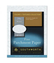 "Southworth 8-1/2"" x 11"", 24lb, 100-Sheets, Gray Parchment Specialty Paper"