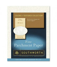 """Southworth 8-1/2"""" x 11"""", 24lb, 100-Sheets, Ivory Parchment Specialty Paper"""