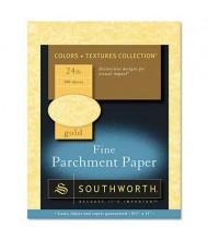 "Southworth 8-1/2"" x 11"", 24lb, 100-Sheets, Gold Parchment Specialty Paper"