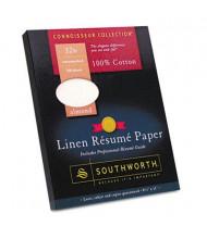 "Southworth 8-1/2"" x 11"", 32lb, 100-Sheets, Almond Linen Resume Paper"