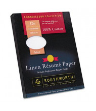 "Southworth 8-1/2"" x 11"", 32lb, 100-Sheets, Blue Linen Resume Paper"