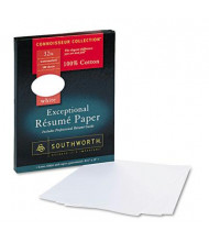 "Southworth 8-1/2"" x 11"", 32lb, 100-Sheets, White Wove Cotton Resume Paper"