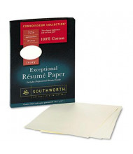 "Southworth 8-1/2"" x 11"", 32lb, 100-Sheets, Ivory Wove Cotton Resume Paper"