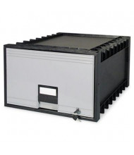 "Storex 24"" D Legal Archive Storage Box Drawer, Black/Gray"