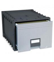 "Storex 18"" D Letter Archive Storage Box Drawer, Black/Gray"