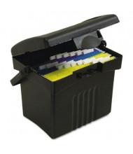 "Storex 11-1/4"" D Letter Portable Storage Box, Black"