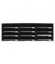 Storex 12-Compartment Literature Sorter, Black