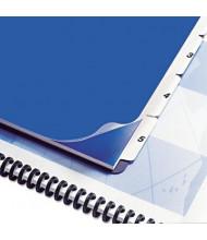 "Swingline 9"" x 11"" 5-Tab Presentation Index Tabs, White, 1 Set"