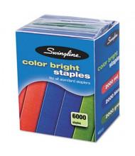 "Swingline 25-Sheet Capacity Color Bright Staples, 1/4"" Leg, 6000/Pack"