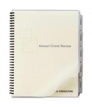 Swingline Letter 5-Tab Customizable Index Tabs, White, 1 Set