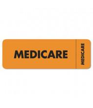 "Tabbies 3"" x 1"" Insurance Labels, Orange, 250/Roll"