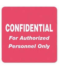 "Tabbies 2"" x 2"" ""Confidential"" Medical Labels, Red, 500/Roll"