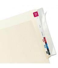"Tabbies 8"" x 2"" File Folder Label Protectors, Clear, 100/Box"