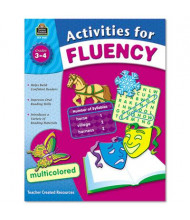Teacher Created Resources Activities for Fluency Grades 1-3 Book, 144 Pages