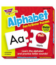 Trend Fun to Know Alphabet Puzzles, 52 Pieces