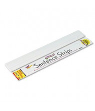 "Trend 24"" x 3"" Wipe-Off Sentence Strips, White, 30/Pack"