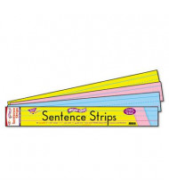 "Trend 24"" x 3"" Wipe-Off Sentence Strips, Assorted, 30/Pack"