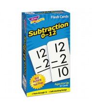 "Trend Subtraction Skill Drill Flash Cards, 3"" x 6"", 91/Pack"