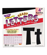 "Trend Ready Letters 4"" H Black Playful Combo Set, 216/Set"