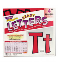 "Trend Ready Letters 4"" H Red Playful Combo Set, 216/Set"