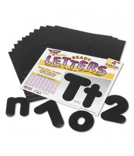 "Trend Ready Letters 4"" H Black Casual Combo Set, 182/Set"