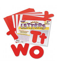 "Trend Ready Letters 4"" H Red Casual Combo Set, 182/Set"