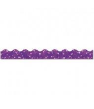 """Trend Sparkle Terrific 39"""" x 2-1/4"""" Purple Border Trimmer Panels, 10/Set"""