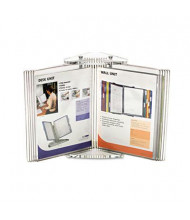 Tarifold, Inc. 10-Pocket Crystal Desk Reference System Starter Set, Clear Borders