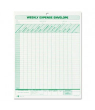 "TOPS 8-1/2"" x 11"" Weekly Expense Report Envelope, 20-Forms"
