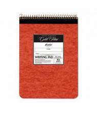 "Ampad 8-1/2"" x 11-3/4"" 70-Sheet Legal Rule Gold Fibre Retro Pad, Ivory Paper"