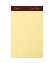 "Ampad 5"" X 8"" 50-Sheet 4-Pack Jr. Legal Rule Gold Fibre 20lb Pads, Canary Paper"