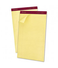 "Ampad Gold Fibre 8-1/2"" X 14"" 50-Sheet 12-Pack Legal Rule Notepad, Canary Paper"