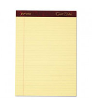 "Ampad 8-1/2"" X 11-3/4"" 50-Sheet 4-Pack Legal Rule Gold Fibre 20lb Pads, Canary Paper"