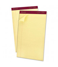 "Ampad Gold Fibre 8-1/2"" X 14"" 50-Sheet 12-Pack Narrow Rule Notepad, Canary Paper"