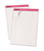 "Ampad 8-1/2"" x 11-3/4"" 50-Sheet 6-Pack Legal Rule Pads, Pink Paper"