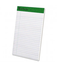 "Ampad Earthwise 5"" x 8"" 50-Sheet 12-Pack Jr. Legal Recycled Pads, White Paper"