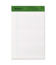 "Ampad 5"" x 8"" 50-Sheet 12-Pack Jr. Legal Rule Recycled Notepads, White Paper"