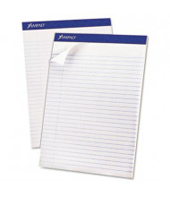 "Ampad 8-1/2"" x 11-3/4"" 50-Sheet 12-Pack Legal Rule Recycled Notepads, White Paper"