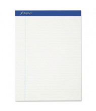 "Ampad Earthwise 8-1/2"" x 11-3/4"" 50-Sheet 12-Pack Legal Recycled Pads, White Paper"