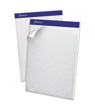 "Ampad 8-1/2"" x 11-3/4"" 100-Sheet 4 Sq. Letter Double Sheet Quad Pad, White Paper"