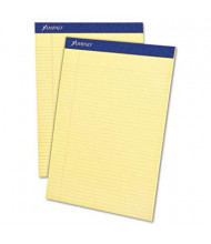"Ampad 8-1/2"" x 11-3/4"" 50-Sheet 12-Pack Narrow Rule Perforated Pads, Canary Paper"