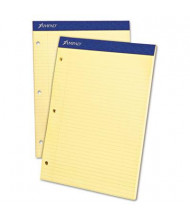 """Ampad 8-1/2"""" X 11-3/4"""" 100-Sheet College Rule Double Sheet Pad, Canary Paper"""